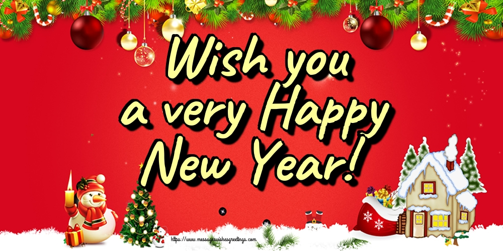Greetings Cards for New Year - Wish you a very Happy New Year!