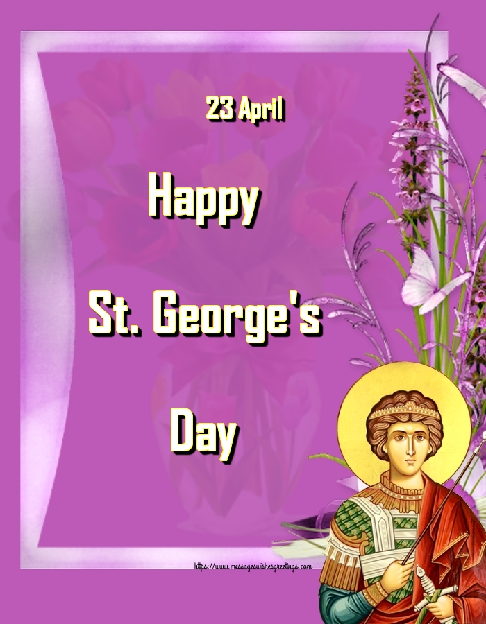 Greetings Cards for St. George's Day - 23 April Happy St. George's Day