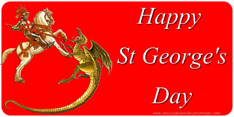 Greetings Cards for St. George's Day - Happy St George's Day