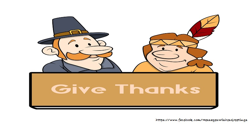 Greetings Cards Thanksgiving - Give thanks