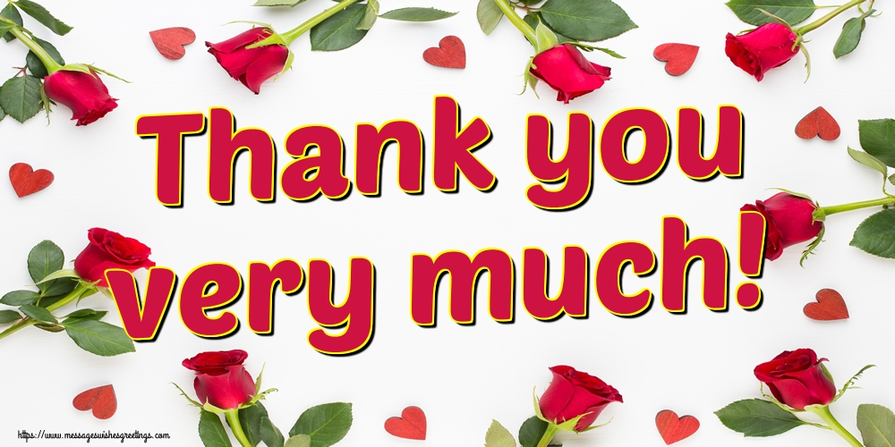 Greetings Cards Thank you - Thank you very much!