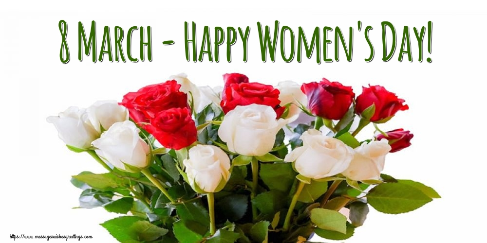 Popular greetings cards for Women's Day - 8 March - Happy Women's Day!