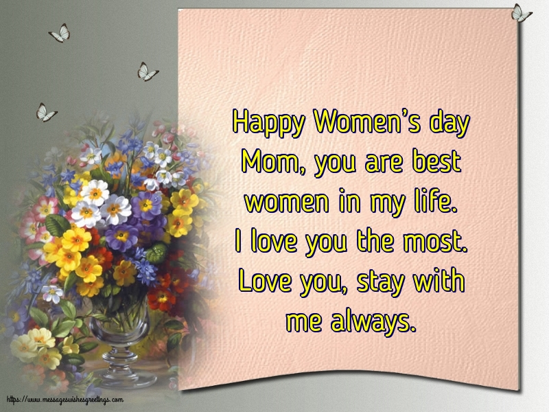 Greetings Cards for Women's Day - Happy Women's day Mom