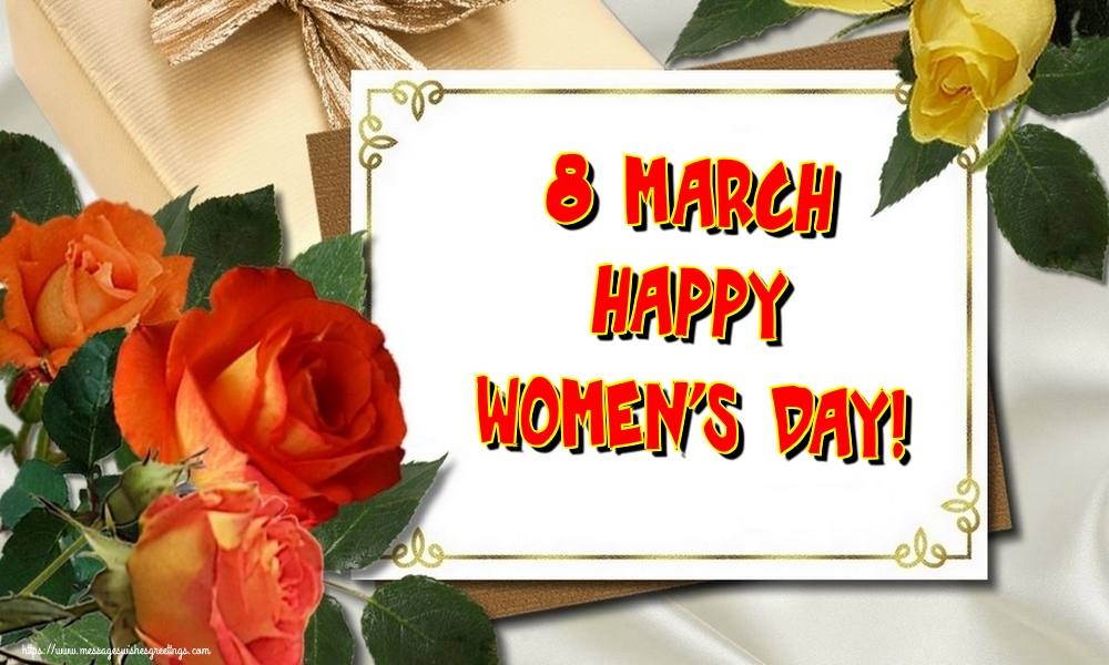 Greetings Cards for Women's Day - 8 March Happy Women's Day!