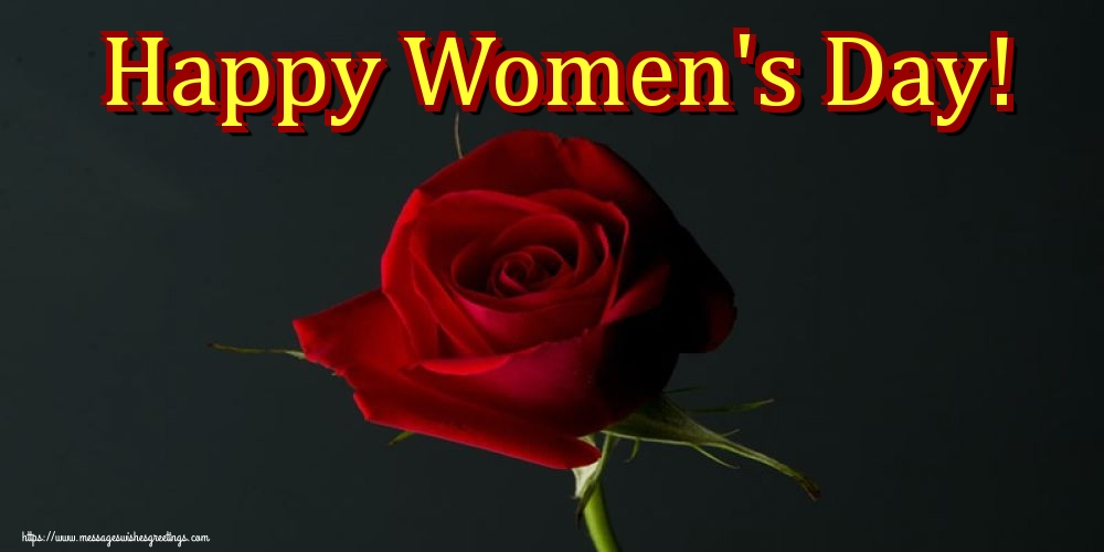 Greetings Cards for Women's Day - Happy Women's Day!