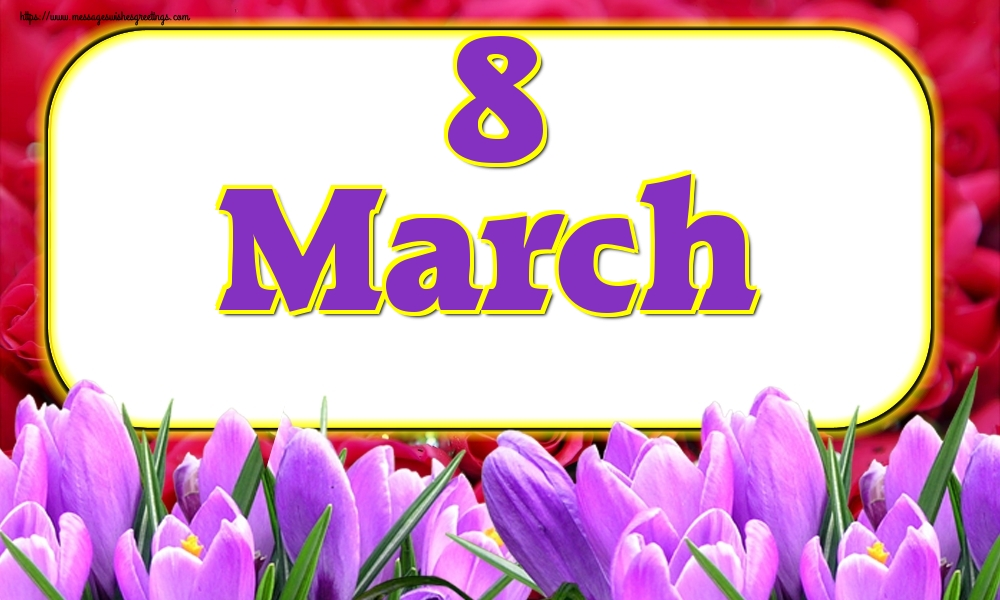 Greetings Cards for Women's Day - 8 March