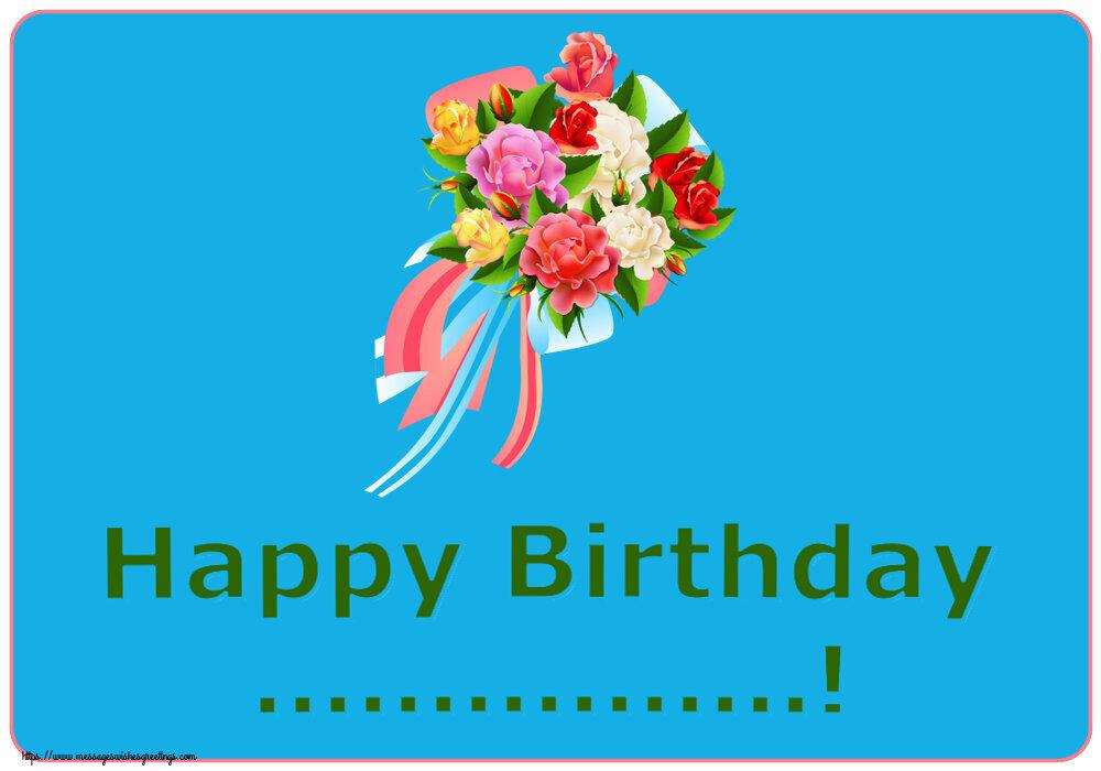 Custom Greetings Cards for Birthday - Happy Birthday ...!