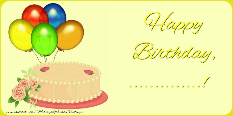 Custom Greetings Cards for Birthday - Happy Birthday, ...