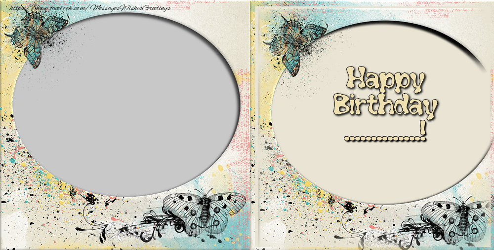 Custom Greetings Cards for Birthday - Happy Birthday, ...!