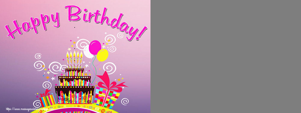Custom Greetings Cards for Birthday - Happy Birthday! - Birthday Photo Frame