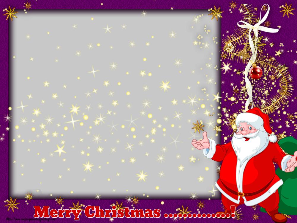Custom Greetings Cards for Christmas - Merry Christmas ...! - Christmas Photo Frame