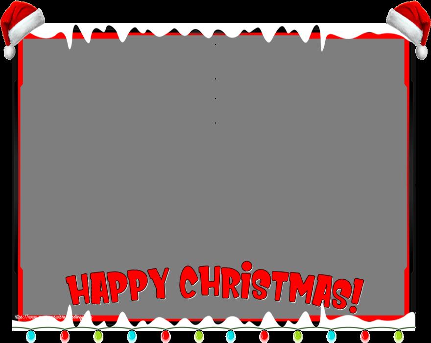 Custom Greetings Cards for Christmas - Happy Christmas! - Christmas Photo Frame