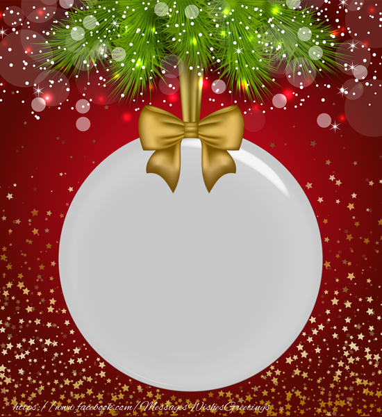 Custom Greetings Cards for Christmas - Picture in Christmas globe