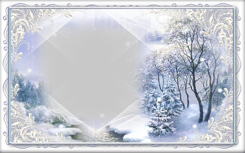 Custom Greetings Cards for Christmas - Winter landscape