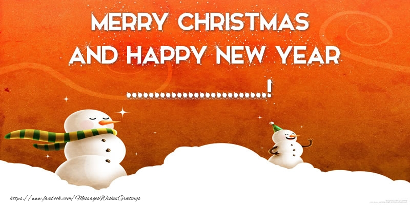 Custom Greetings Cards for Christmas - Merry christmas and happy new year ...!