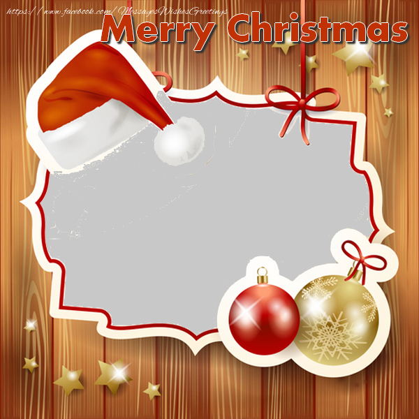 Custom Greetings Cards for Christmas - Merry Christmas
