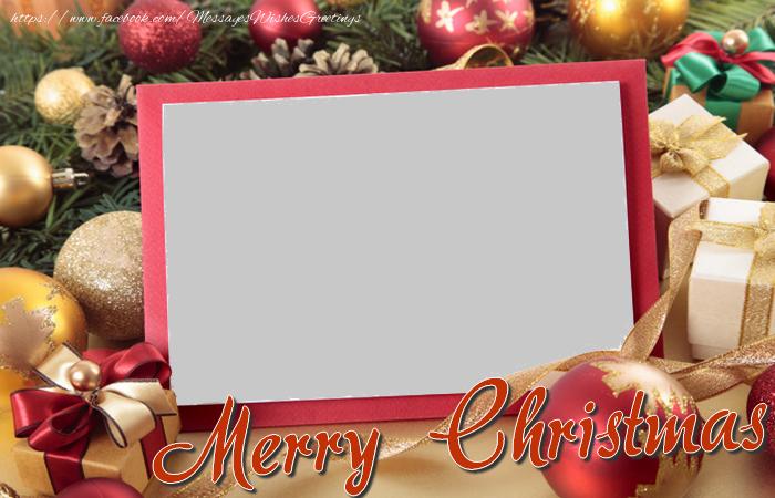 Custom Greetings Cards for Christmas - Merry Christmas
