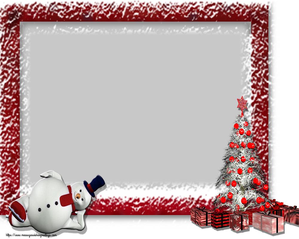 Custom Greetings Cards for Christmas - Christmas Photo Frame