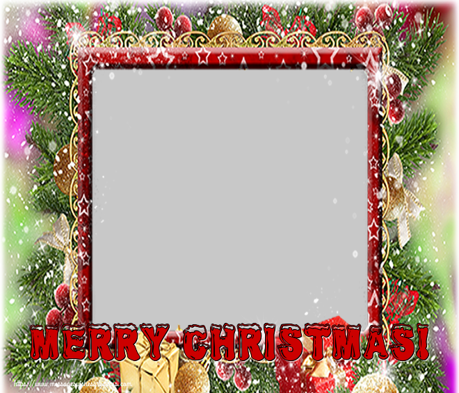 Custom Greetings Cards for Christmas - Merry Christmas! - Christmas Photo Frame with your Facebook Profile
