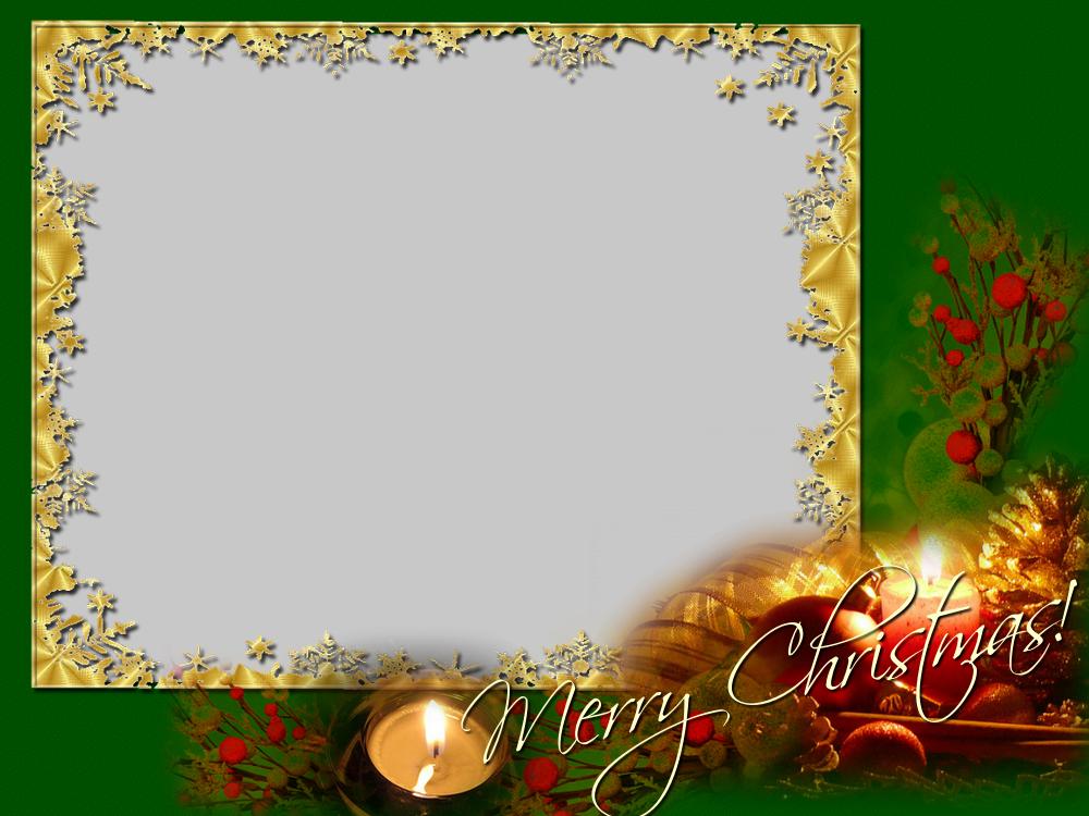 Custom Greetings Cards for Christmas - Merry Christmas! - Christmas Photo Frame