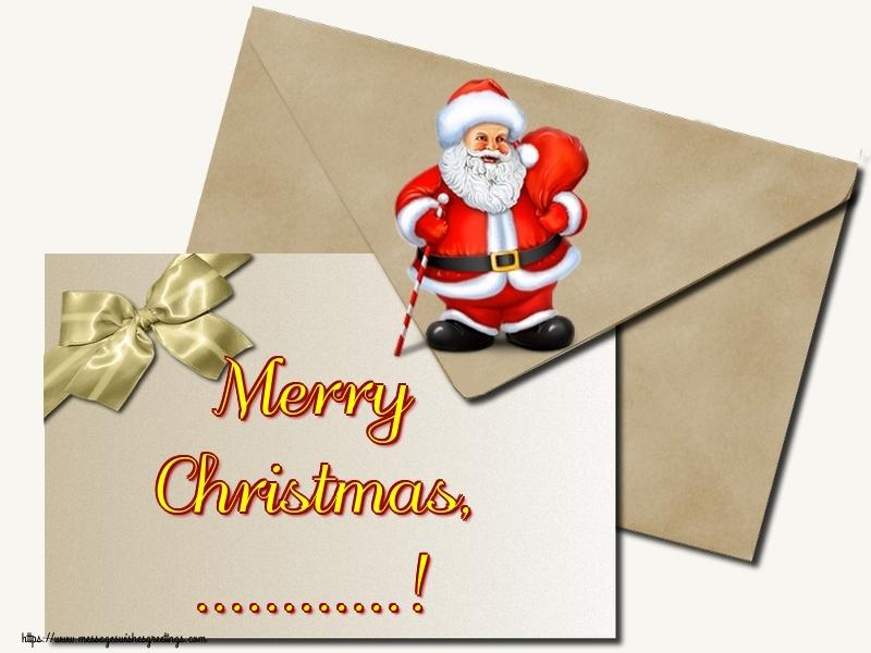 Custom Greetings Cards for Christmas - Merry Christmas, ...!