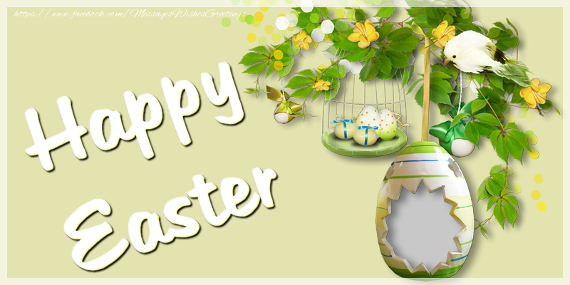 Custom Greetings Cards for Easter - Happy Easter