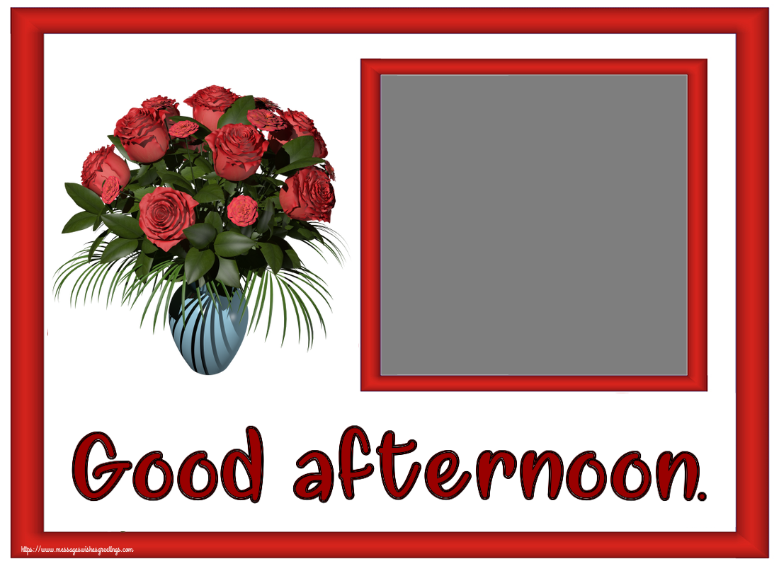 Custom Greetings Cards for Good day - Good afternoon. - Create with your facebook profile photo