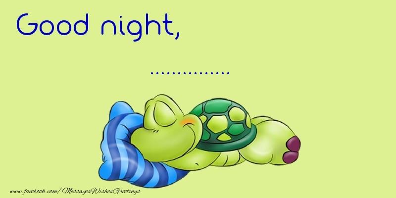 Custom Greetings Cards for Good night - Good night, ...
