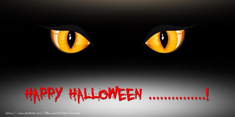 Custom Greetings Cards for Halloween - Happy Halloween ...!