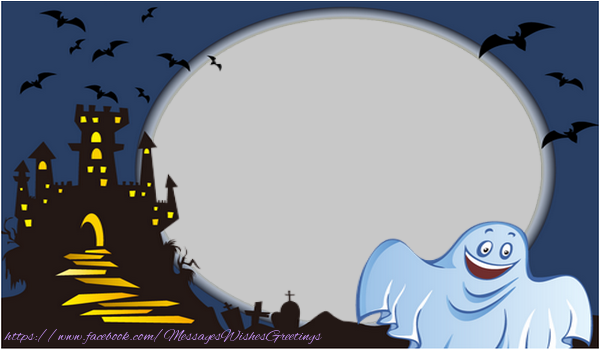 Custom Greetings Cards for Halloween - Halloween phantom