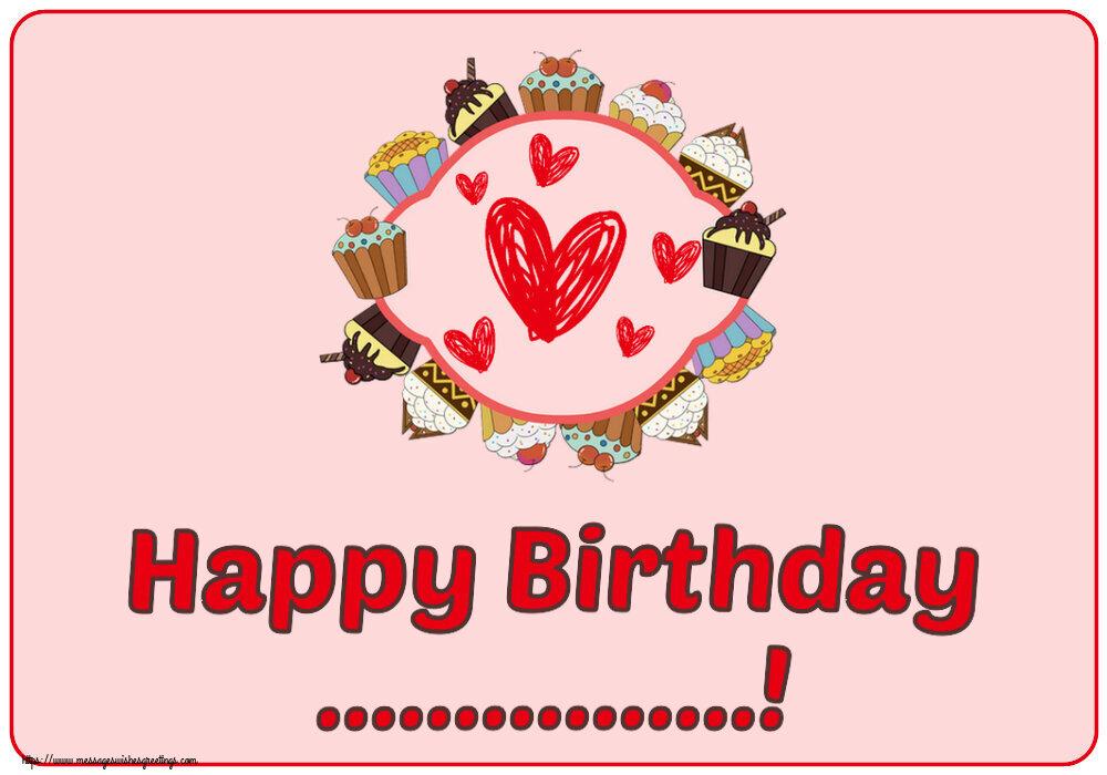 Custom Greetings Cards for kids - Happy Birthday ...!