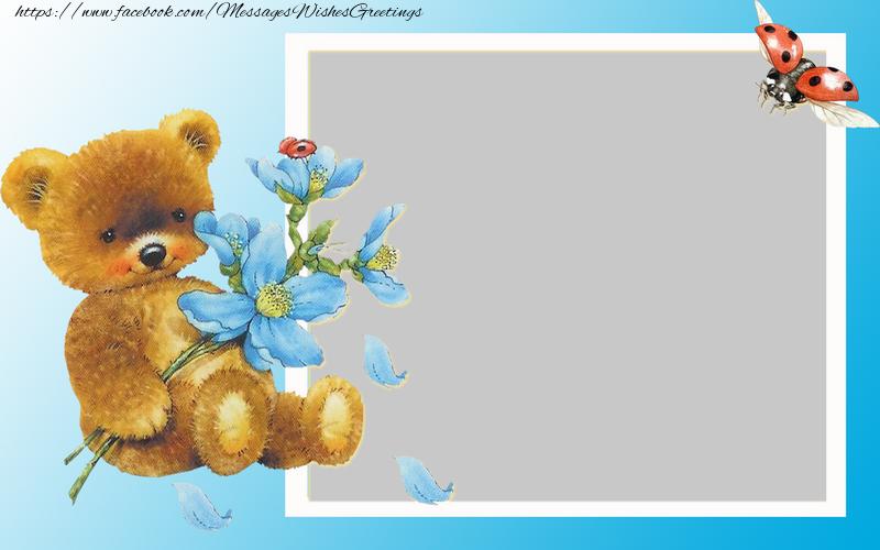 Custom Greetings Cards for kids - Photo frame