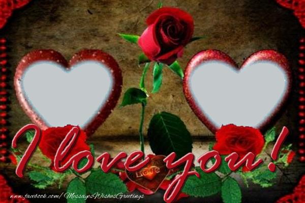 Custom Greetings Cards for Love - I love you