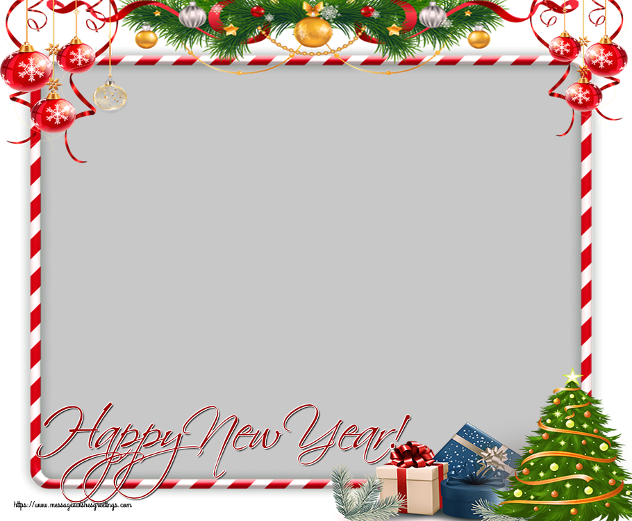 Custom Greetings Cards for New Year - Happy New Year! - New Year Photo Frame