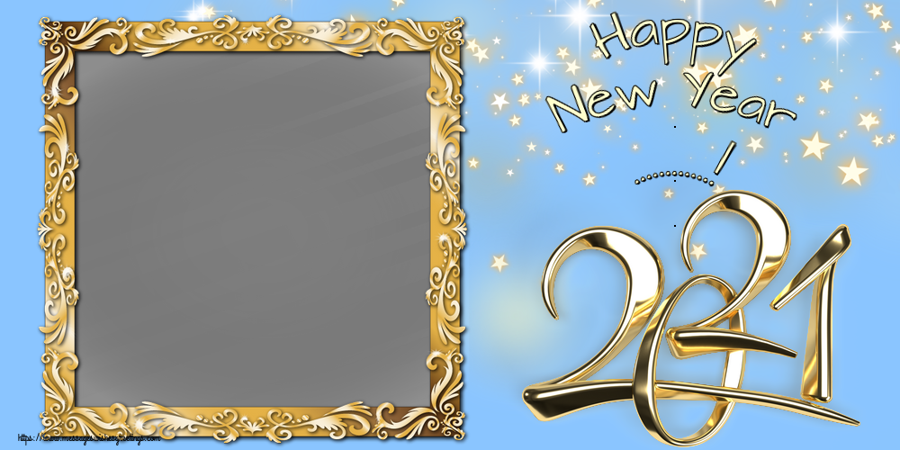 Custom Greetings Cards for New Year - Happy New Year ...! - New Year Photo Frame