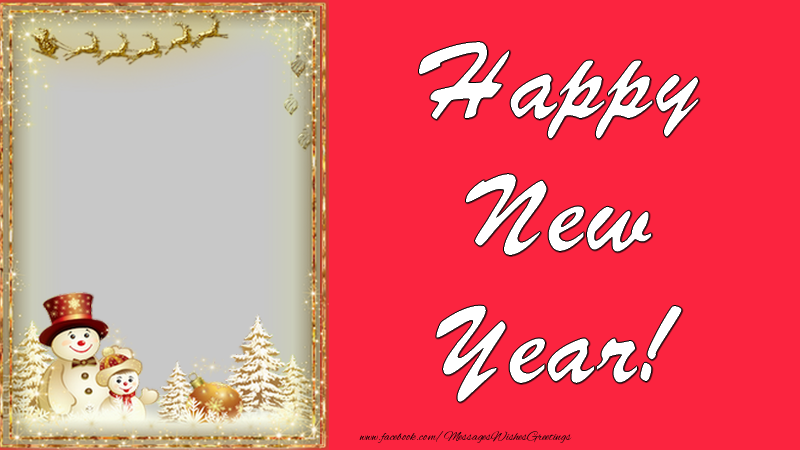 Custom Greetings Cards for New Year - Happy New Year