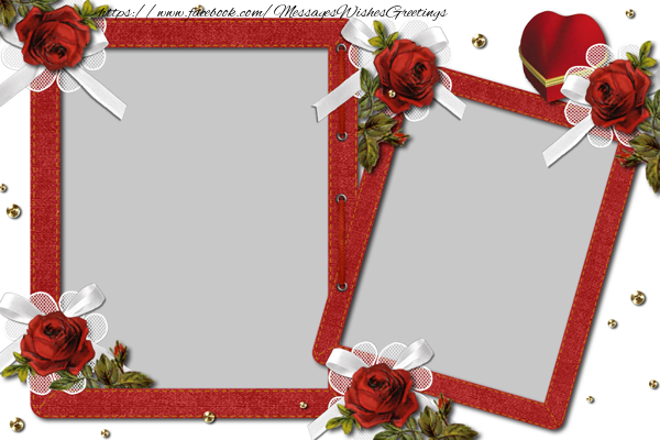 Custom Greetings Cards with Photo - Red photo frame