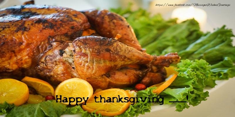 Custom Greetings Cards Thanksgiving - Thanksgiving turkey