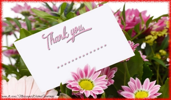 Custom Greetings Cards Thank you - Thank you, ...