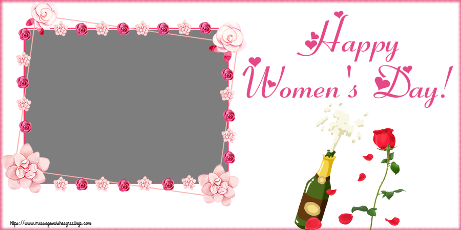 Custom Greetings Cards for Women's Day - Happy Women's Day! - Photo Frame