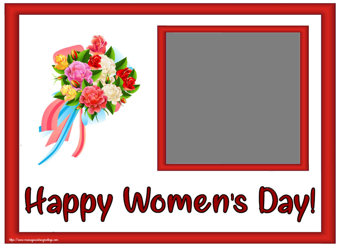 Custom Greetings Cards for Women's Day - Happy Women's Day! - Create with your facebook profile photo