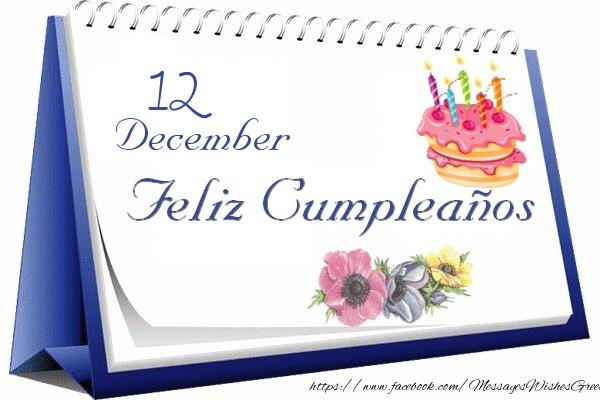 Greetings Cards Of 12 December 12 December Happy Birthday