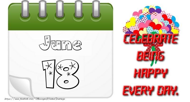 Greetings Cards Of 18 June