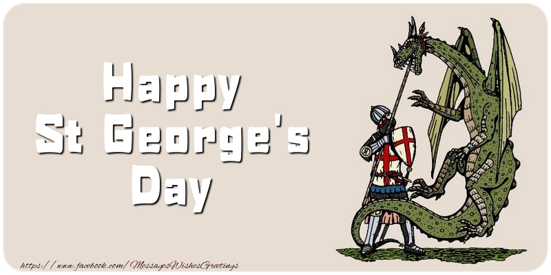 Messages for St. George's Day - Happy St George's Day - messageswishesgreetings.com