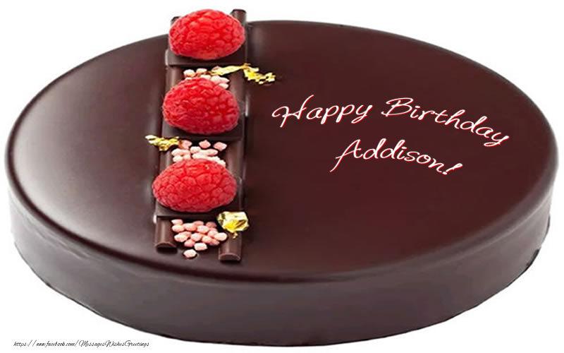 Greetings Cards for Birthday - Happy Birthday Addison!