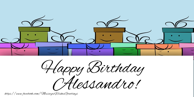 Greetings Cards for Birthday - Happy Birthday Alessandro!