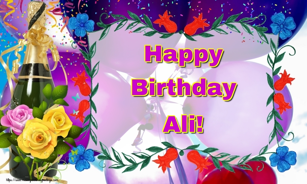 Greetings Cards for Birthday - Happy Birthday Ali!