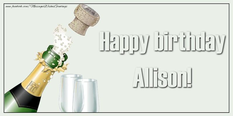 Happy Birthday Allison Cake