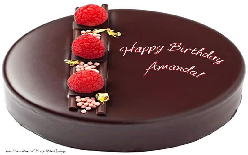 Greetings Cards for Birthday - Happy Birthday Amanda!