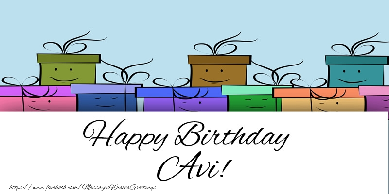 Greetings Cards for Birthday - Happy Birthday Avi!